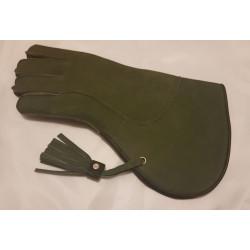 Rękawica sokolnicza -  jastrzębia zielona zimowa