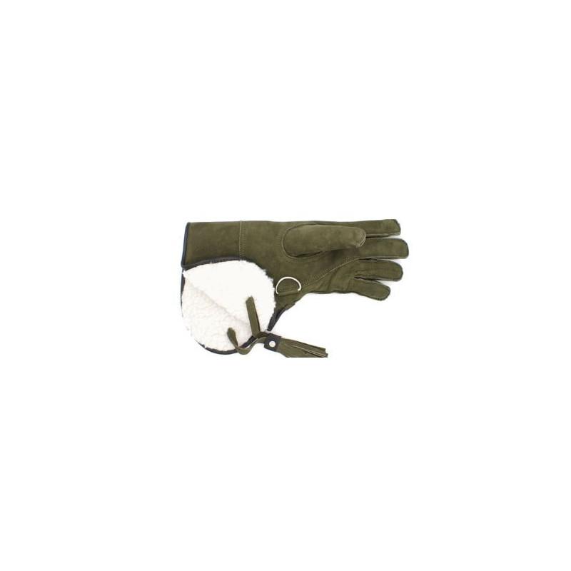 Rękawica sokolnicza zimowa -  jastrzębia zielona